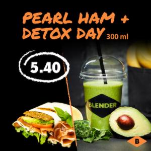 Blenderi komboeine: Detox day roheline smuuti + pearl ham võiku serrano singiga