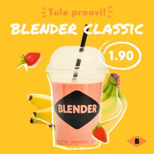Blenderi Classic smuuti - maasikas, banaan, õun